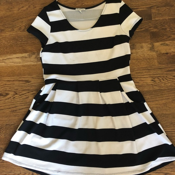 8fe047070299 Charlotte Russe Black And White Striped Dress